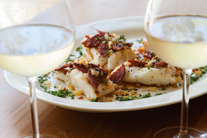 halibut and chorizo