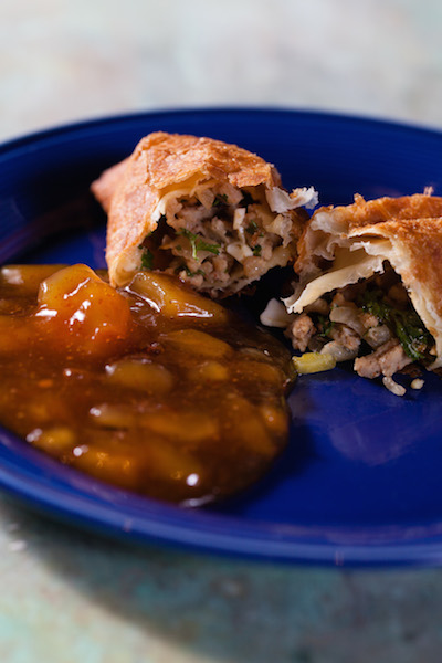 pork empanadas with chutney