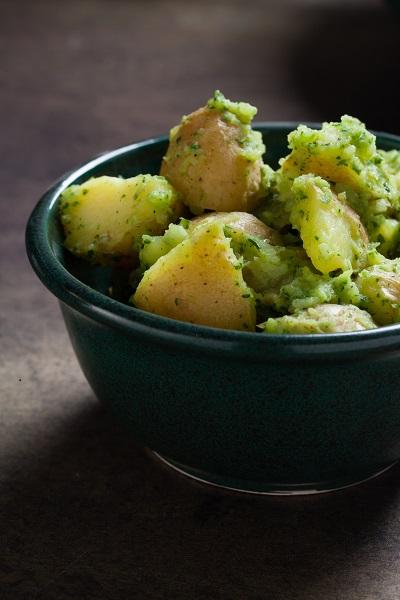 Potato Salad with green salsa