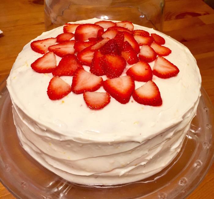 Strawberry Birthday Cake Katie Stew